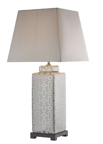 Dar Evelyn Table Lamp Silver/Cream Base Only EVE4232 (Class 2 Double Insulated)